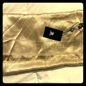 COPY - BNWT Creme silk Chanel scarf